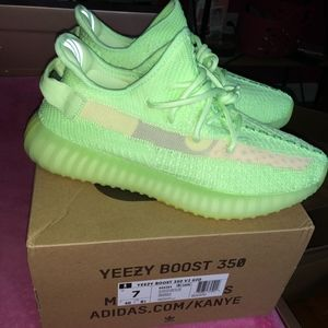 Yeezy Boost 350 V2 'Green Glow Size 7